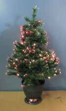 """36"""" Multi Colored Fiber Optic Pre-Lit Christmas Tree with Potted Base"""