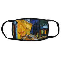 Van Gogh Cafe Terrace at Night Fashion Face Mask, Reusable, Washable