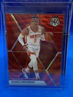 Russell Westbrook 2019-20 Panini Mosaic Tmall Red Wave Prizm Houston Rockets SSP