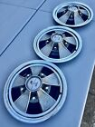 """(3) 1968 Ford Shelby Mustang GT350 GT500 GT500KR HUBCAPS 15"""" Mag Style GT-500"""
