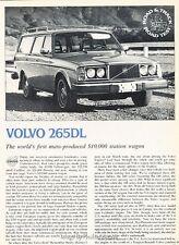 1976 Volvo 265DL  Road Test  Original Car Review Print Article J626