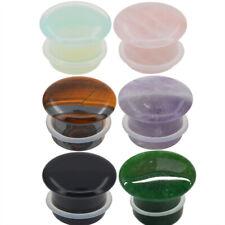 6 Pairs of Single Flare Stone Ear Plugs Silicone Expander Gauges 8ga - 5/8 E554
