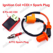Scooter Racing Ignition Coil AC CDI A7TC Spark Plug GY6 50cc 125cc 150cc Moped
