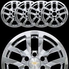 "4 Chrome 2019 2020 SILVERADO 1500 18"" Wheel Skins Hub Caps Aluminum Rim Covers"