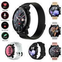 Damen Herren Sport Smartwatch Pulsuhr Anruferinnerung für iPhone Huawei P40 P30