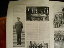 Ahmed Zogu re d'Albania  Tirana  Evenghieli Illustrazione italiana 1928 n. 37
