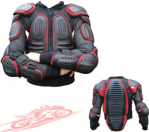 BLACK RED SPINE GUARD CE BODY ARMOUR MENS MOTORBIKE MOTORCYCLE PROTECTION JACKET