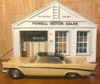 1957 JO-HAN CHRYSLER NEW YORKER  4 Dr HT BEIGE/BLACK FRICTION PROMO 1/25 SCALE