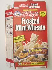 Kellogg's Cereal Box 20.4 oz frosted MINI-WHEATS 1996 Collector Truck Offer