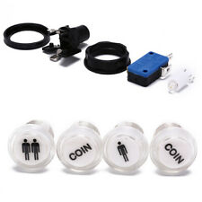 4x led start push button kit 1p 2p start button+coin button for arcade game  sp