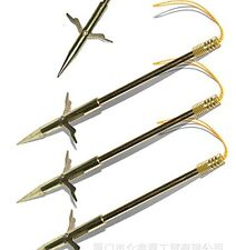 3PCS Gold Fishing Harpoon Slingshot Bullet Spear Prong Barbed Gig Hunting Tools