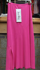 Joseph Ribkoff BNWT UK 10 Fabulous Long Cerise Pink Skirt with Slit