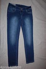Junior Womens Dark Blue Mid-rise SKINNY Jeans Soft Stretchy Rue 21 Size 9/10 Reg