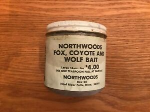 Vintage NORTHWOODS Fox,Coyote,& WOLF Bait Trapping Hunting Lure Newhouse Antique