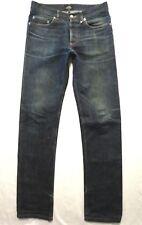 APC size 28 x 33 New Standard slim leg Selvedge Low rise waist Mens jeans HOLE
