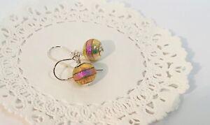 Handmade Dichroic Glass Earrings - . 925 Sterling Silver