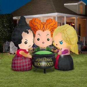 Gemmy Disney Hocus Pocus Sanderson Sisters 4.5 ft Halloween Airblown Inflatable