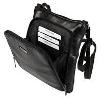 Womens Small Leather Handbag Ladies Black Cross Body Shoulder Bag Purse