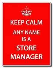 Gerente de la tienda Personalizada Keep Calm Jumbo Imán