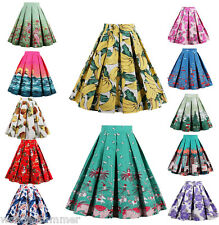 6 Patterns Women Vintage 1950s Midi Pinup Swing Pleated Skirt Dress Plus Size