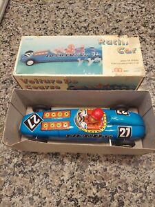 """China MS-222 LOTUS 1930 """"CIGAR"""" RACING CAR 24cm Wind-Up Tin Toy 1978 VERY RARE"""
