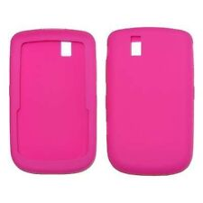 Silicone Skin Case for Blackberry Tour 9630/9650 - Hot Pink