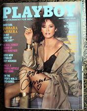 1982 Playboy Magazine signed by James Bond Girl BARBARA CARRERA!