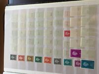Netherlands nhm 54 stamps with roll numbers Juliana Regina 1970