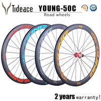 700C*25mm Road Racing 50mm Bicycle Wheelset Cycling Road Bike Wheels F&R One Set