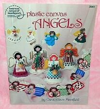 ASN Plastic Canvas Angels Pattern Leaflet Christmas Tree Topper Ornament Garland
