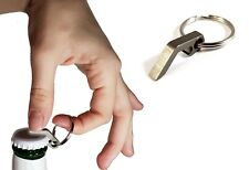 Stainless Steel Bottle Opener Keyring - Strong, Small, Rust Proof