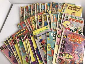 1970's Comic Book Lot Harvey Charlton Archie Disney Gold key Whitman 55 Comics