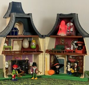 Vintage Weebles Haunted House,Light Up Ghost,Clowns,Witches,Scarecrow,Pumpkin