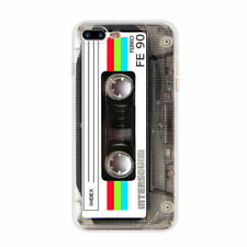 For Iphone 5 5S SE White Cassette Tape Ultra Thin Soft TPU Phone Cover Back Skin