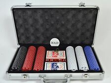 Versa Games POKER CHIP SET Locking Egg Crate Padded Aluminum Case Silver USED