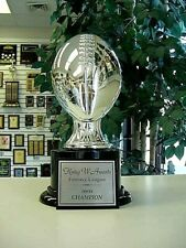 Fantasy Football Trophy Award Silver Resin Heavy Quality Trophy Free Engraving *