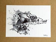 Dessin signé - canvas peinture graffiti street art tableau contemporain tag