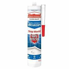 UniBond Triple Protection Stop Mould Sealant, Kitchen and Bathroom Sealant,