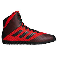 adidas Mat Wizard 4 Mens Adult Wrestling Trainer Shoe Boot Red