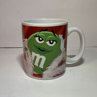 -164- M&M's Galerie Green Coffee Mug Cup Valentines Day