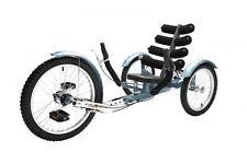 """Mobo INCROCIATORE """" SHIFT """" bicicletta RECLINATA TRE-RUOTE - Ruote RECLINATE Blu"""