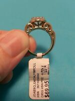 Jean Dousset 3.52ct Absolute Baguette Side Frame Ring Size 6 HSN .925 Vermeil