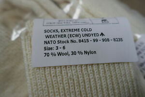 NEW - MoD Army Issue Extreme Cold Weather ECW Arctic Socks UK Size 3-6 SMALL