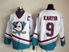 #9 Paul Kariya The Mighty Ducks of Men's Hockey Jersey White All Stitched