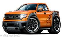 2010-13 Ford F-150 Raptor 4x4 Truck Wall Graphic Sticker Vinyl Decal Man Cave