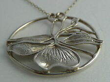 1982 Norman Grant Hallmarked Sterling Silver Pendant Silver Chain Boxed 1980s