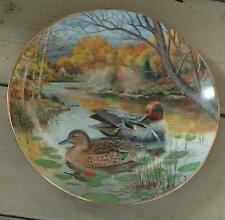 Vintage Knowles The Green Winged Teal Collectible Plate, Very Good Condition