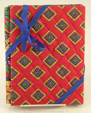 Vera Bradley Villa Red Pattern Double Photo Frame Quilted Fabric Retired Pattern