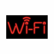 Wi-Fi Red Neon Sign - Lighted Neon Business Signs - Window Advertisement Display