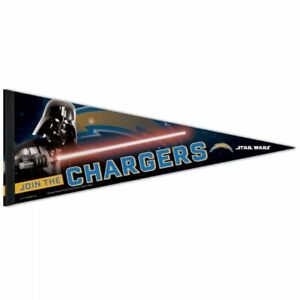 """SAN DIEGO CHARGERS STAR WARS DARTH VADER PREMIUM QUALITY PENNANT 12""""X30"""" BANNER"""